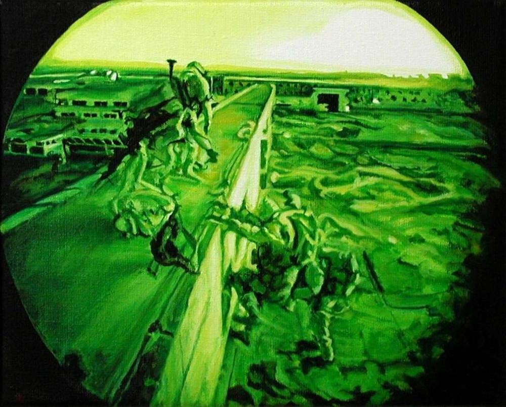 Borderline, 2006, 30 x 24 x 4.5cm, oil on linen