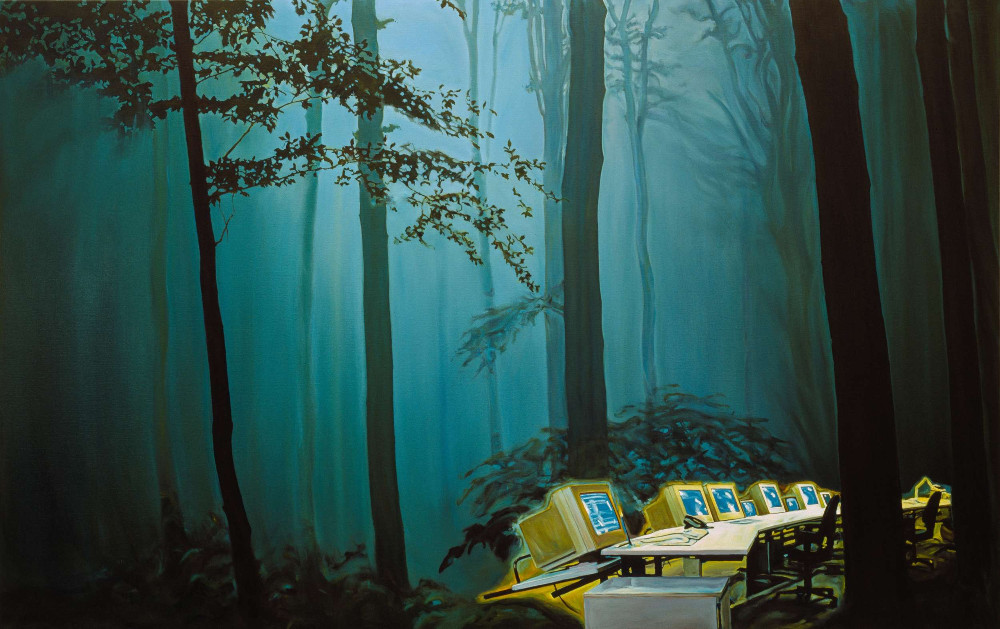 Nightwatch, 2000, 150 x 237cm, oil on linen