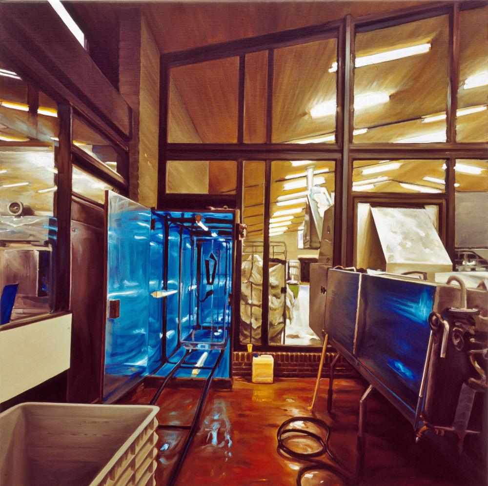 Cell, 1997, oil on linen, 100 x 100cm