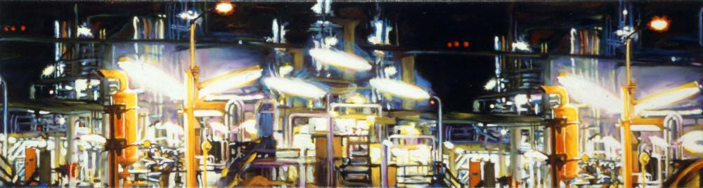 Sketch Nightshade, 1999,  oil on linen, 25 x 95cm