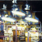 Sketch Nightshade, 1999,  oil on linen, 25 x 95cm