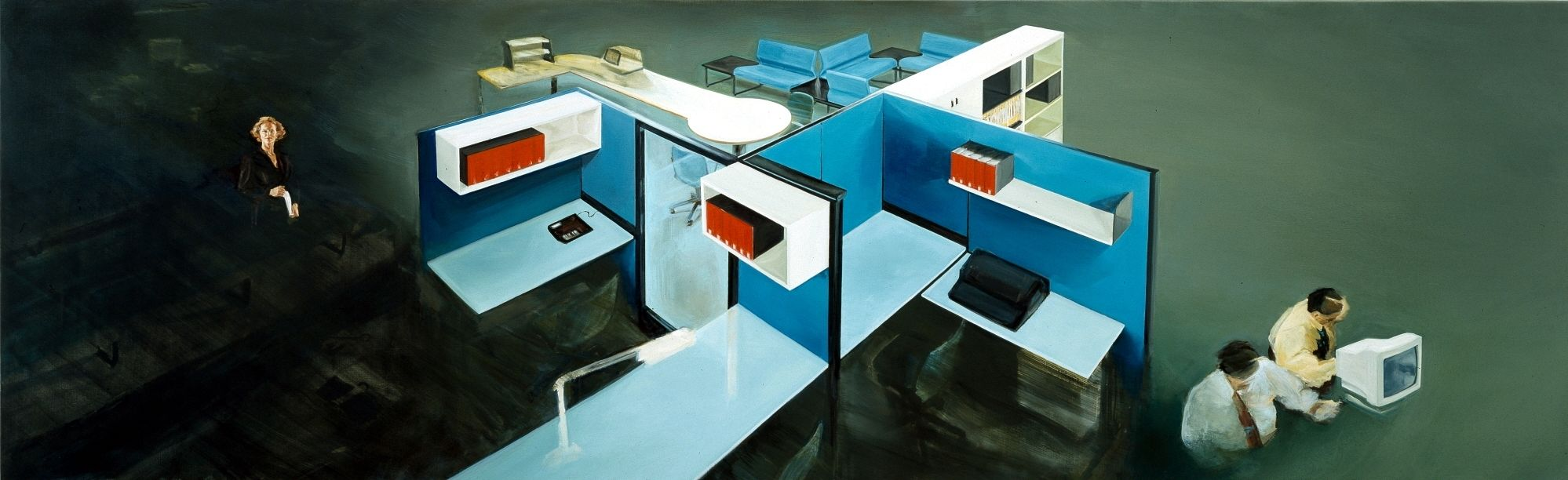 Fragment, 1995, oil on linen, 140 x 450cm