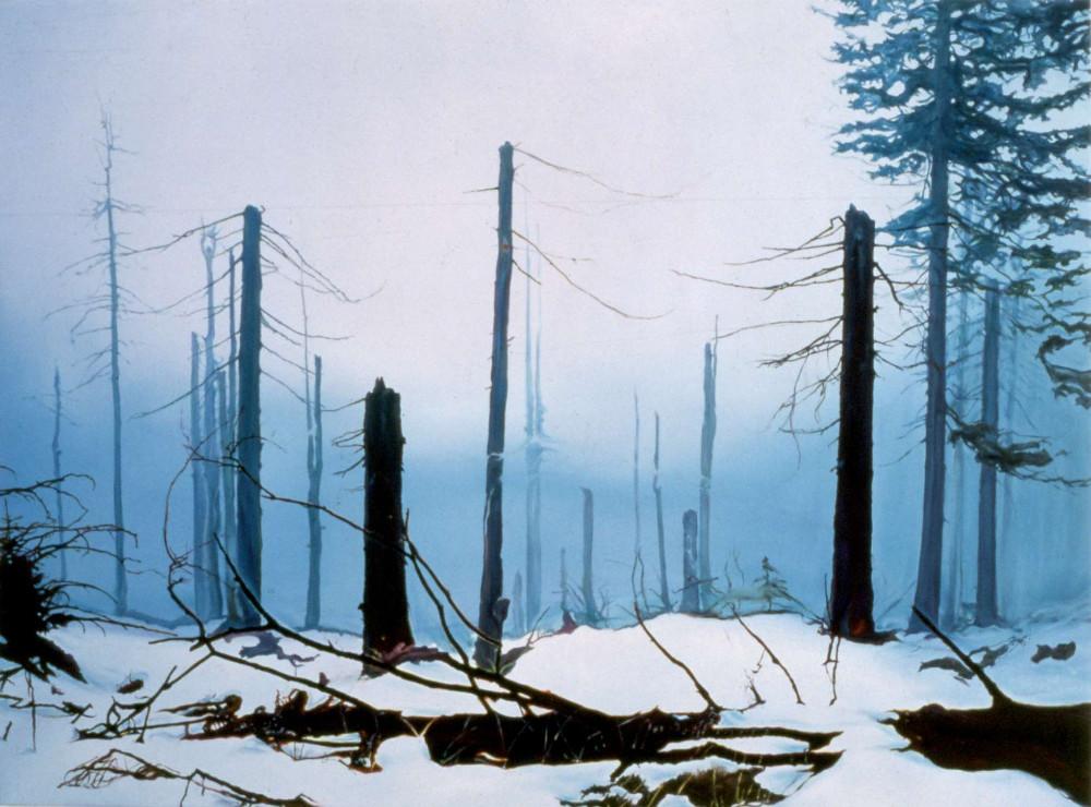 Zone, 2001,  oil on linen, 143.5 x 93cm