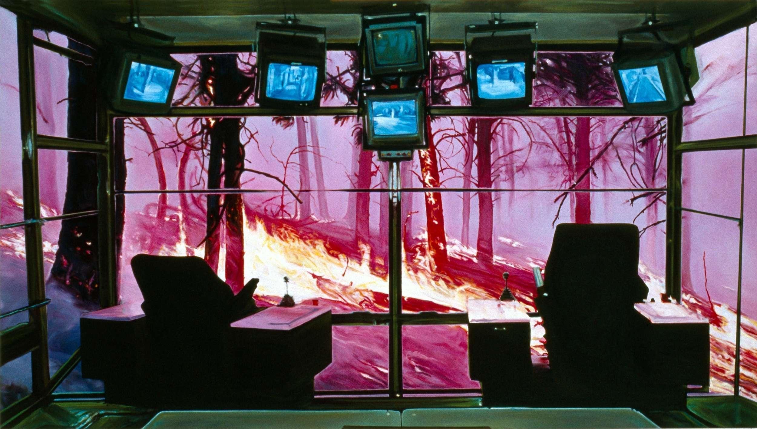 Frontier, 2001, 112 x 198cm, oil on linen