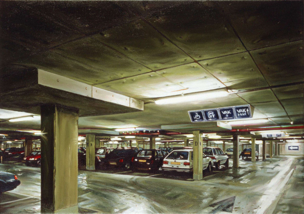 Nightstation, 1998,  oil on linen, 50 x 70cm