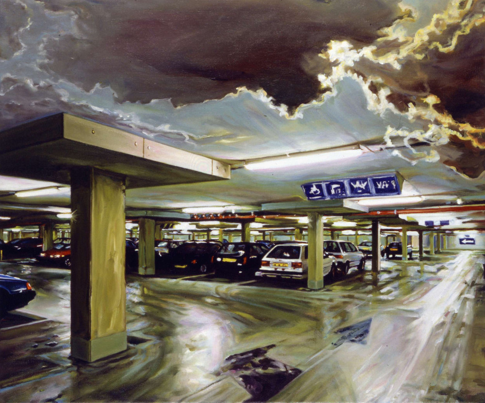 Nightstation 2, 1998, oil on linen, 58.5 x 70cm