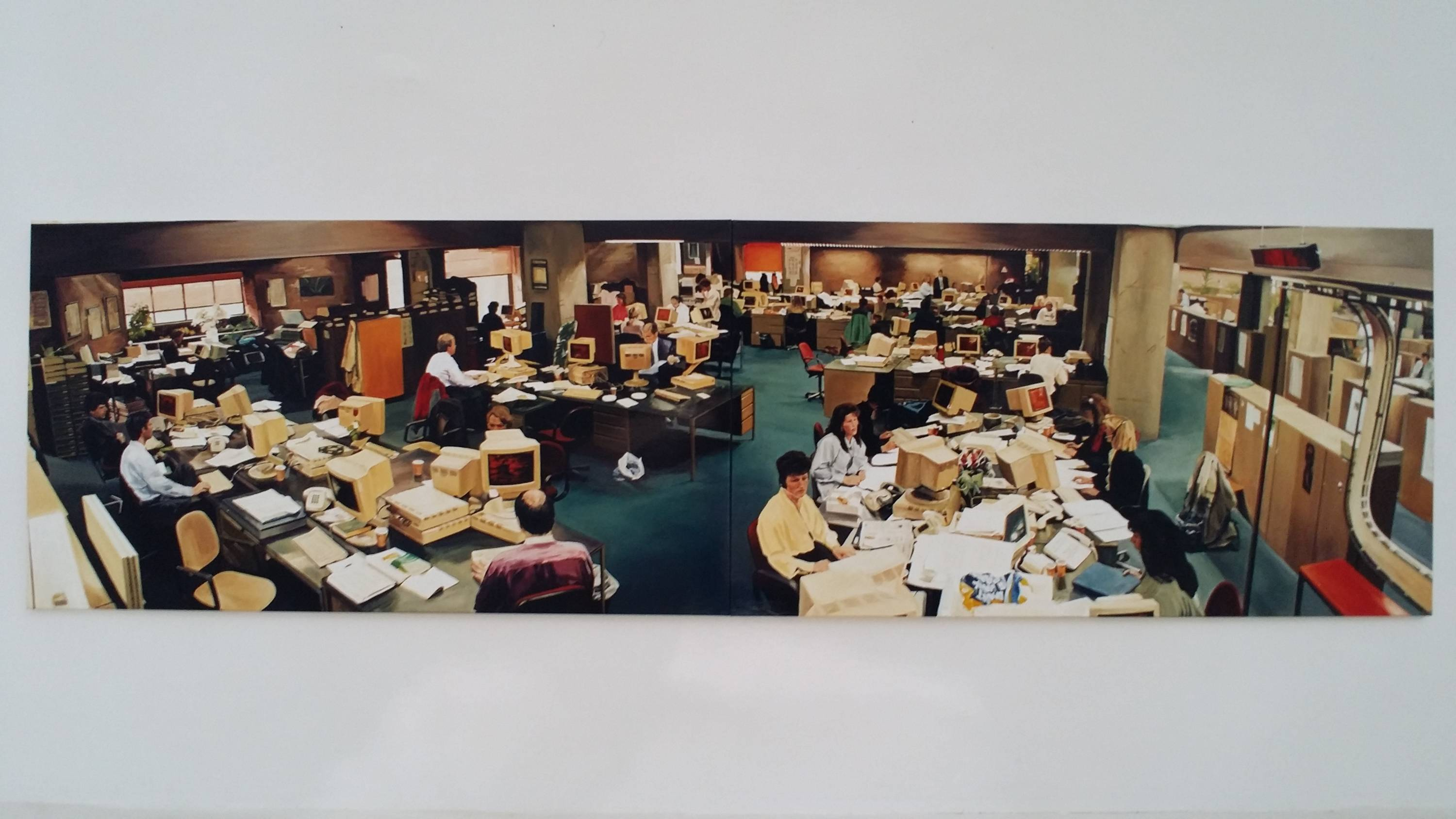 We love our people, 1994,  acrylic on linen, 140 x 500cm